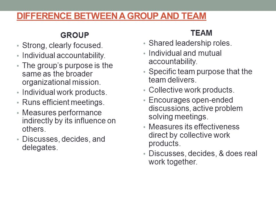 Difference Between Group And Team 71