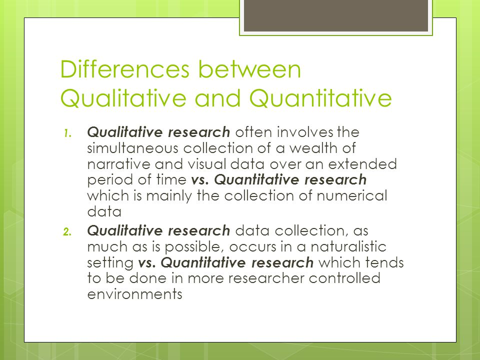 What is Quantitative?