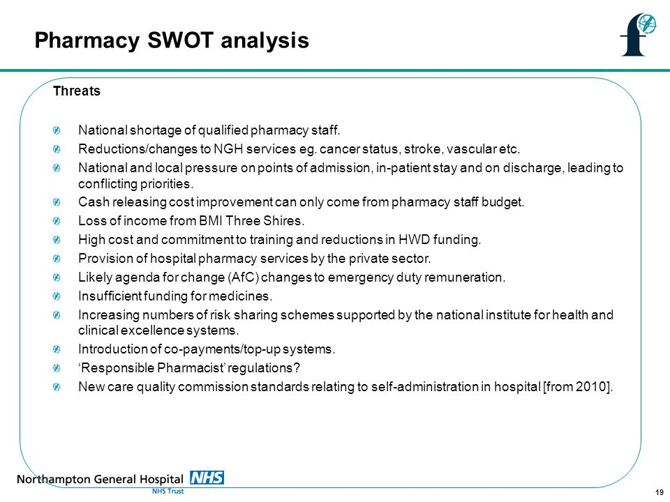 swot analysis and clinical staff shortages Swot analysis is a precursor to strategic planning and is performed by a panel  of experts who can  panel could comprise senior leaders, board members,  employees, medical staff, patients, community leaders  shortages of critical  staff.