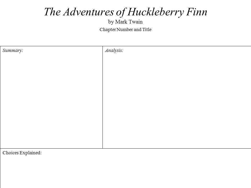 huckleberry finn essay topics