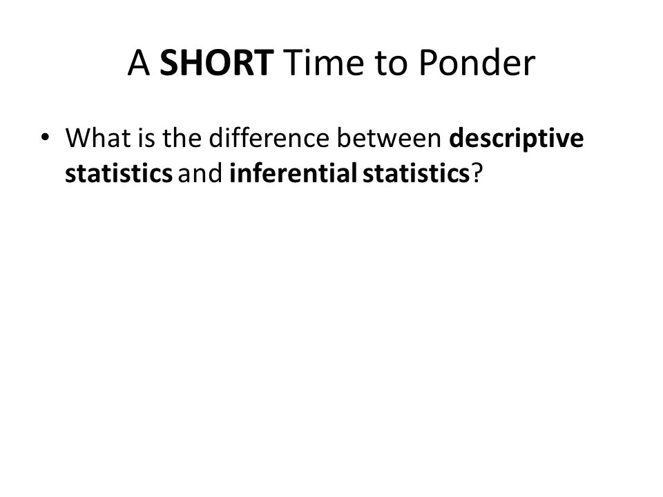 descriptive and inferential statistics being used in psychology Organizational use of industrial/organizational psychology  descriptive statistics are used to summarize the gathered data and inferential statistics.