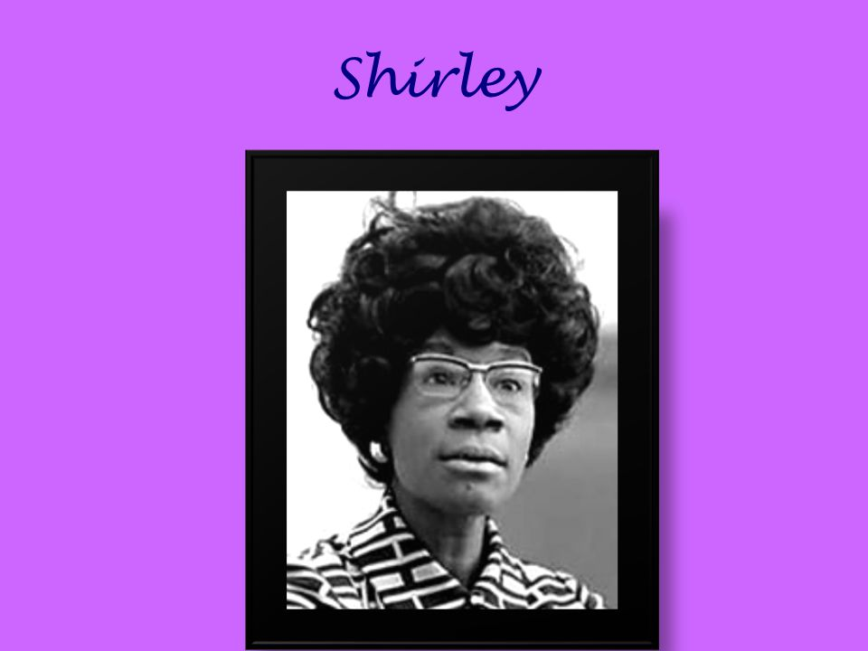 an introduction to the life of shirley anita st hill chisholm Black history - shirley chisholm  1924-2005 shirley anita st hill chisholm,  and a life long advocate for women's and civil rights.