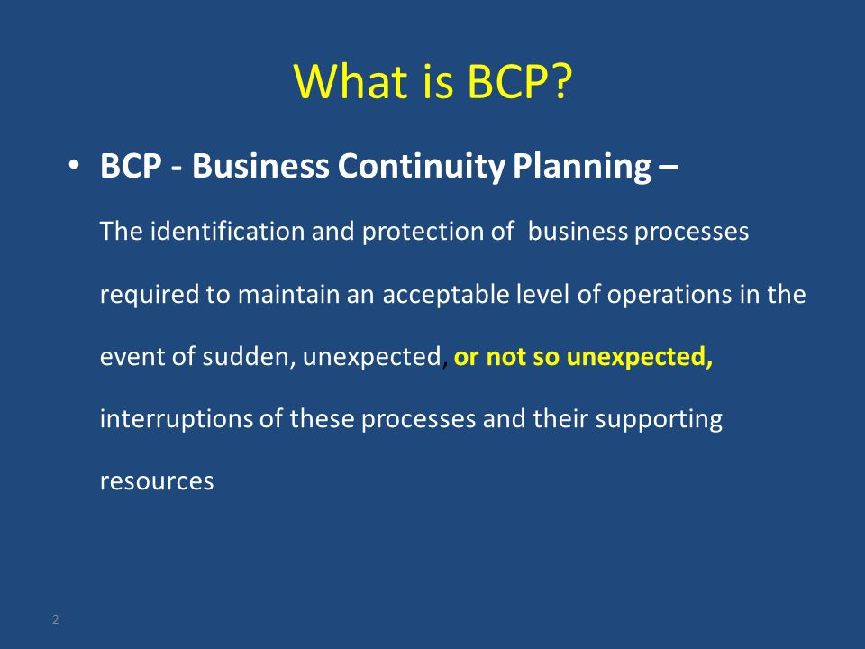 business continuity planning and strategic pre incident Business interruption and include emergency procedures for evacuation business continuity planning with overseeing the strategic supplier's continuity program and keeping current copies of their continuity.