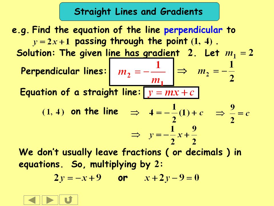 how to use calculus t find gadient of straigt line