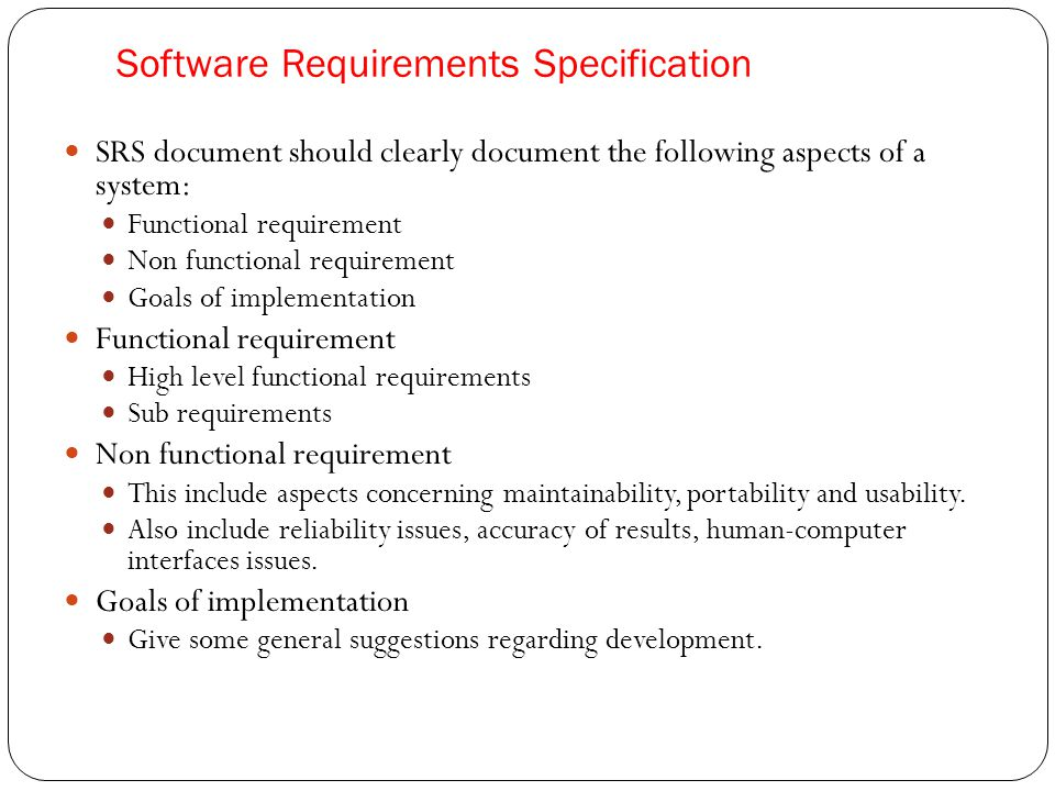 Requirement engineering ppt download for Srs software requirement specification template