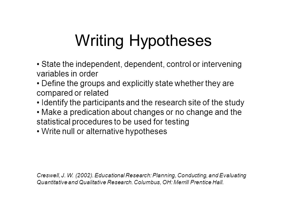 Developing Research Questions for Quantitative Studies