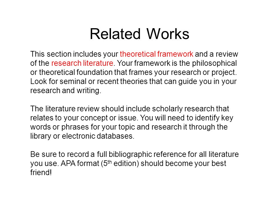 thesis related work section