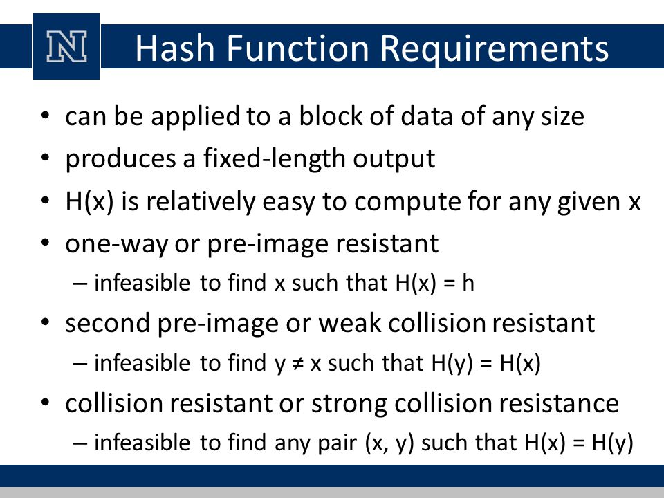 one way hash function pdf