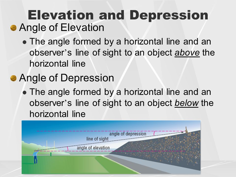 how to find distance with angle of depression