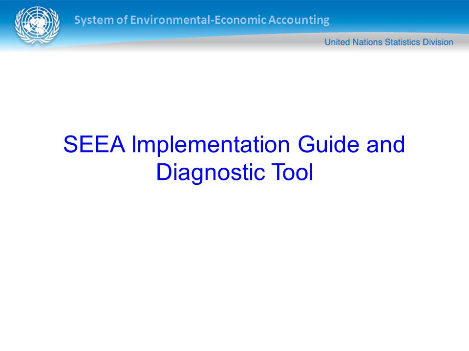 SEEA Implementation Guide and Diagnostic Tool