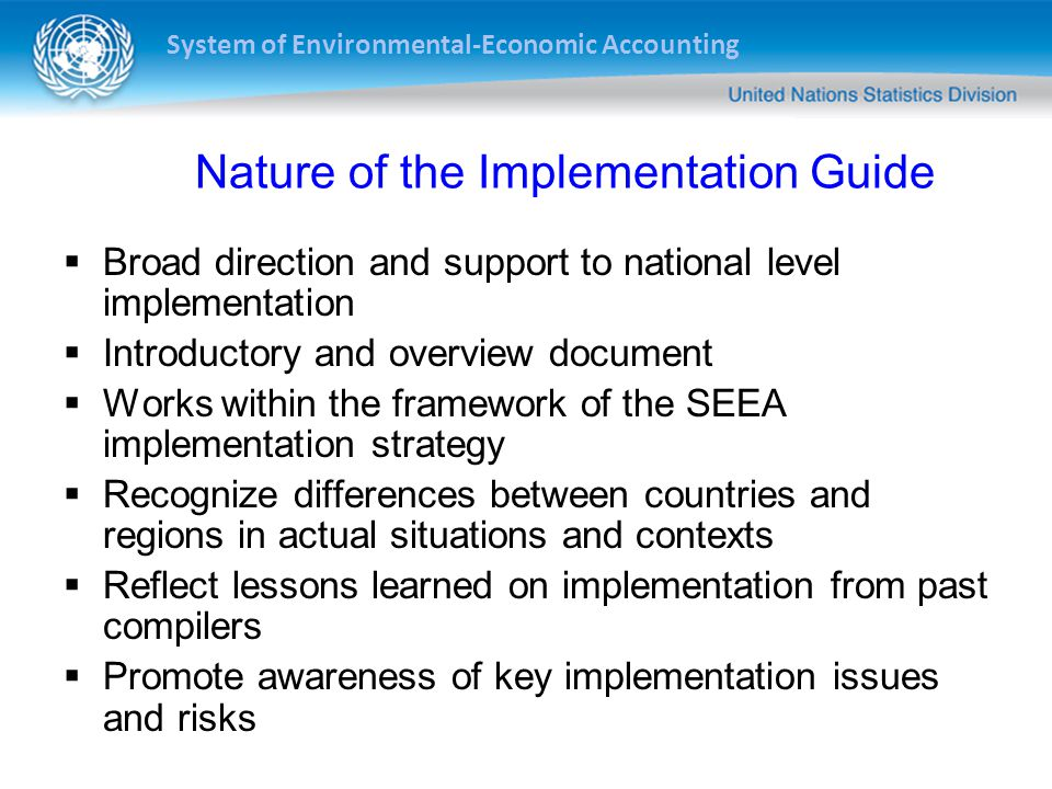 Nature of the Implementation Guide