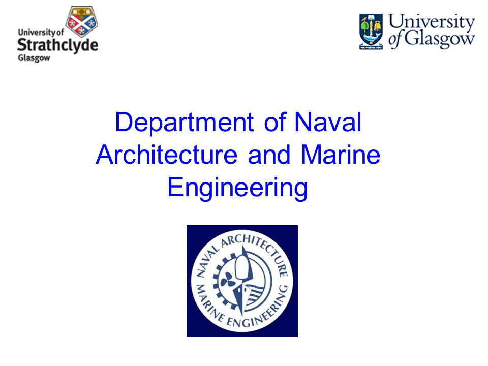 1 Department Of Naval Architecture And Marine Engineering