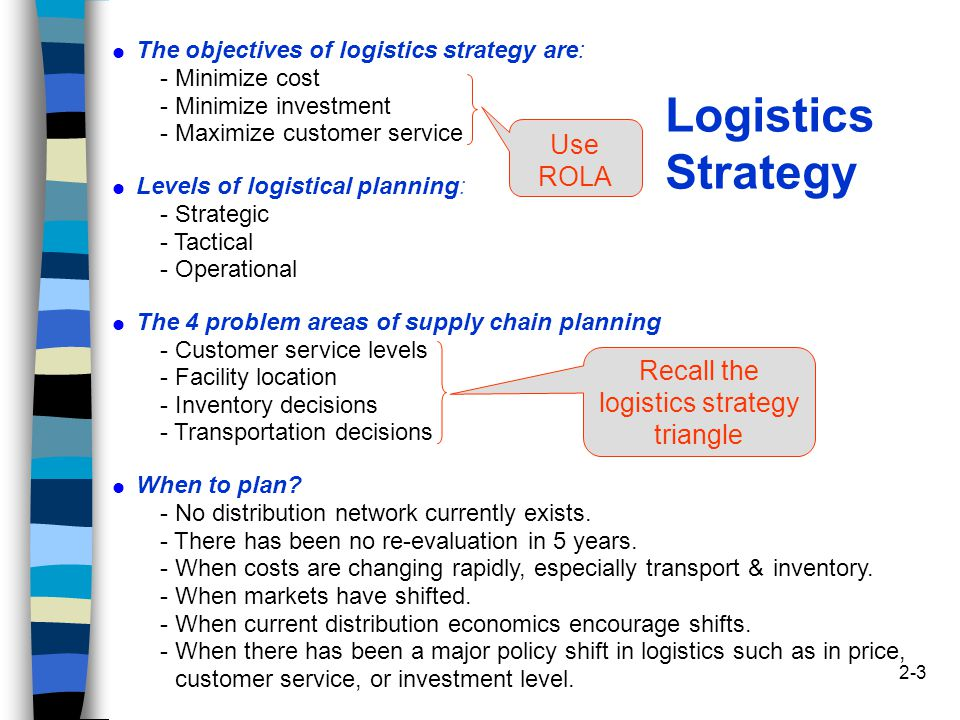 Logistics Planning Services : Logistics supply chain strategy and planning ppt video