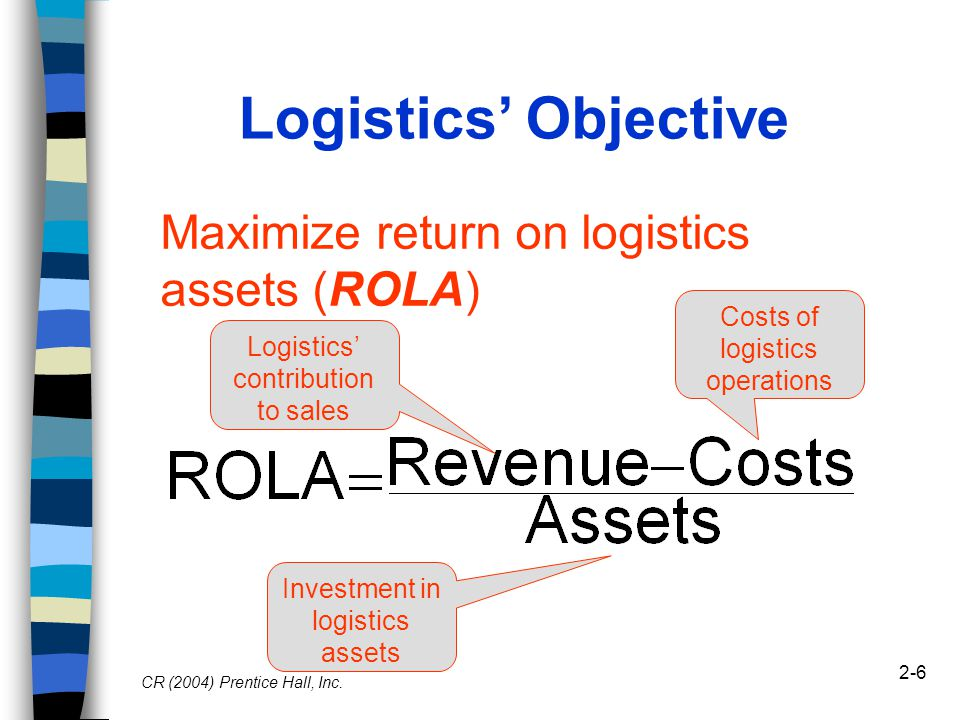 operating objectives of logistics Logistics and supply chain operations it identifies the elements of these processes and draws attention to significant factors and variables governing these processes.