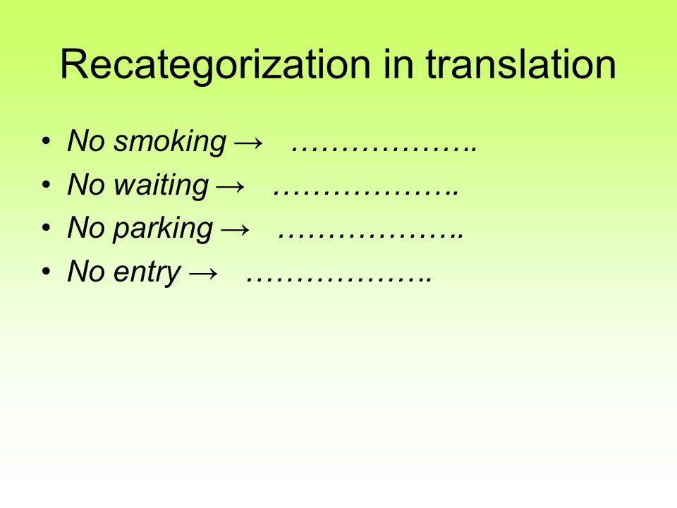 Recategorization in translation