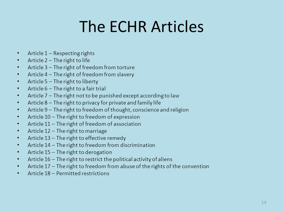 article 5 from any echr