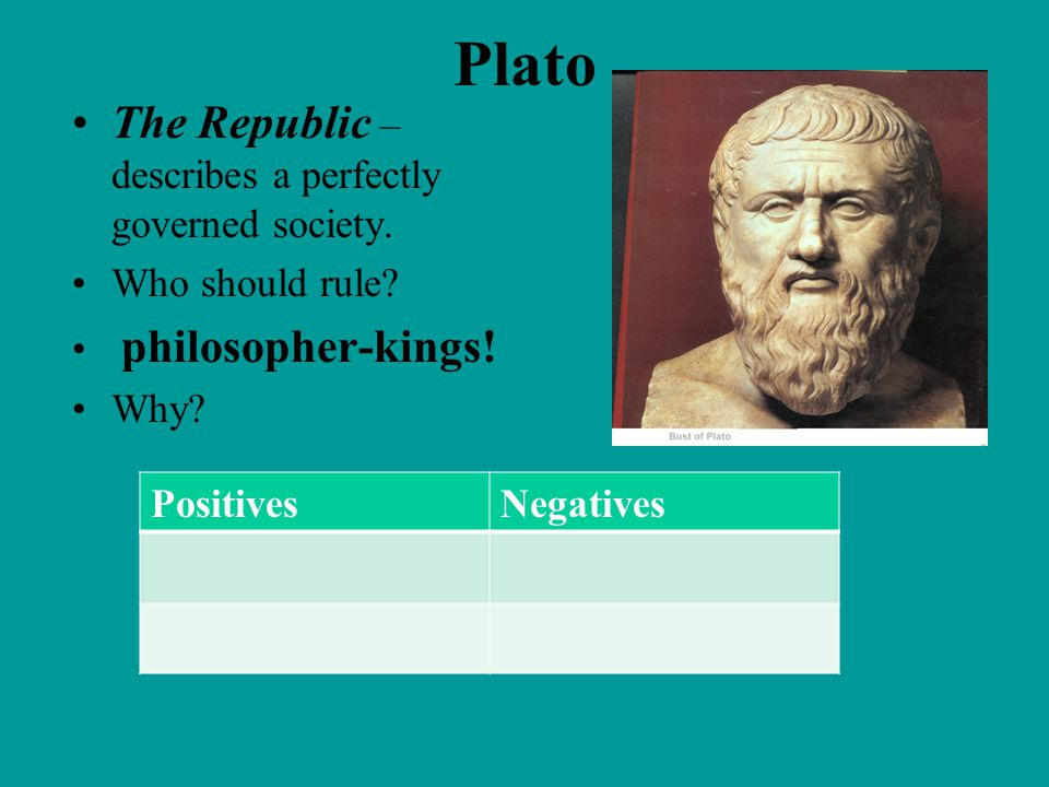 Plato The Republic – describes a perfectly governed society.