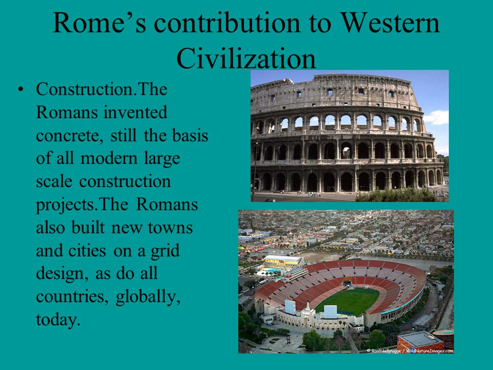 Rome's contribution to Western Civilization