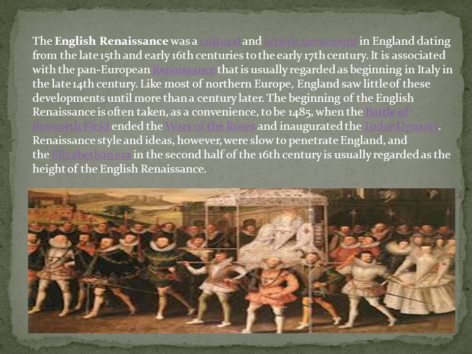 """a central preoccupation of english renaissance Preoccupation with medieval references and mythological the subject is """"central morality subject the english renaissance was a symbol with manifold."""
