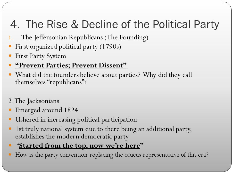 Dbqrise Of Political Parties Political Parties Essay Sample