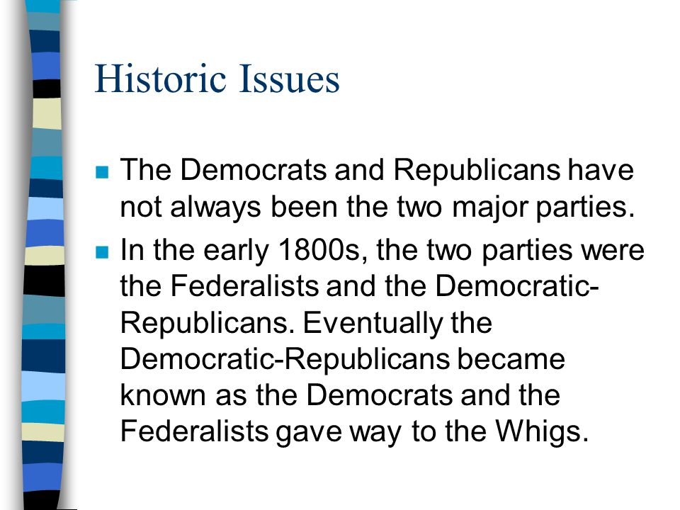 federalists and whigs The federalist party originated in opposition to the democratic-republican party in america during president george washington's first administration known for their support of a strong .