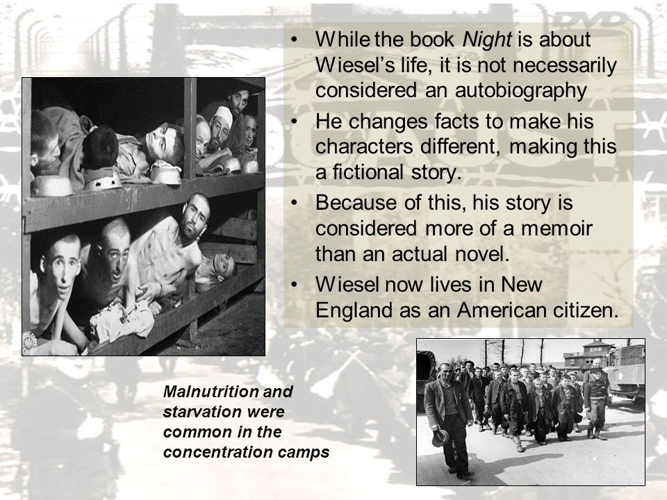 a plot review of eliezer wiesels autobiography night Get all the key plot points of elie wiesel's night on one page  night summary  eliezer begins to study the cabbala, the book of jewish mysticism, with an.
