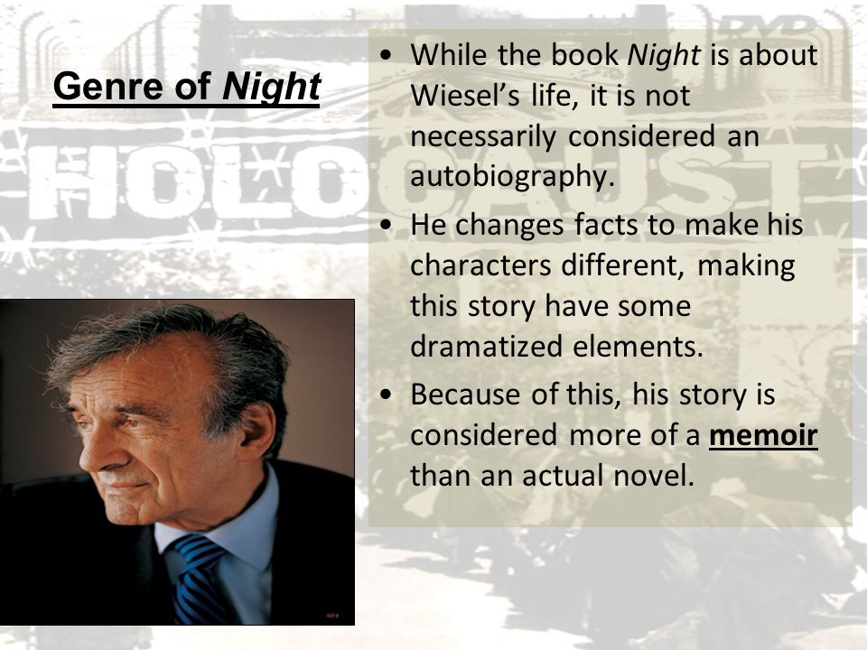 a review of night a book by elie wiesel Night (9780374500016) by elie wiesel saturday review the detail of mr wiesel's memories, make this book one that cannot be forgotten.