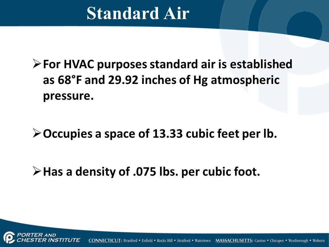 Hvacr416 design psychrometrics ppt video online download for hvac purposes standard air is established as 68 fandeluxe Images