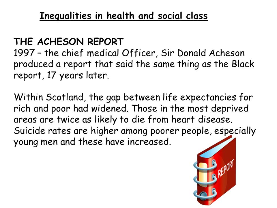 social class and health inequalities essays The national health service has a lot of health inequalities regarding to people with gender, race and social class, this has become .