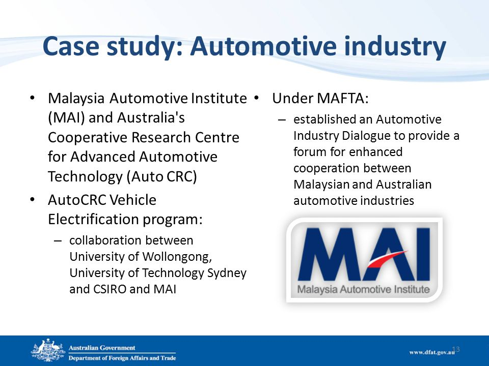 Case study of automobile industry