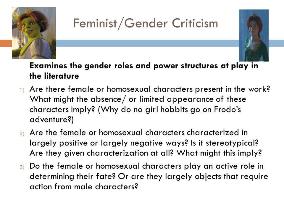 female characters overthrowing gender roles The roles of the female characters in society in 'the necklace' and 'life in the country' there are three things that make up the society the time, place and people in each society each of these points differs from other societies.