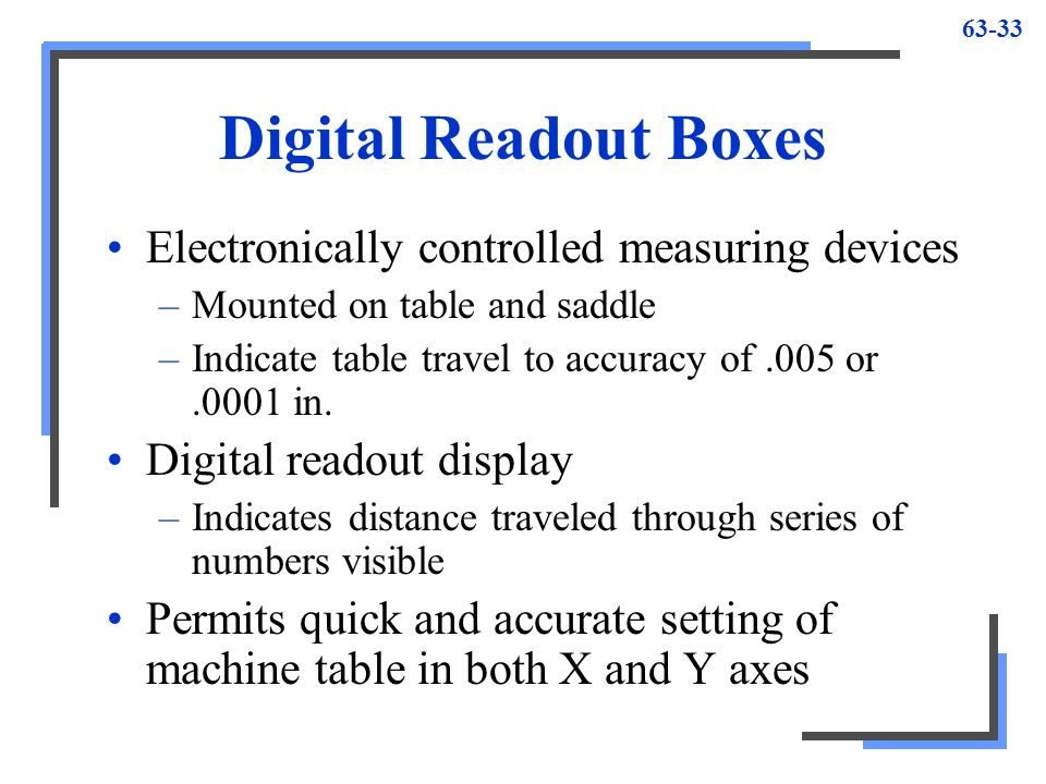 Digital Measuring Table : Special milling operations ppt video online download