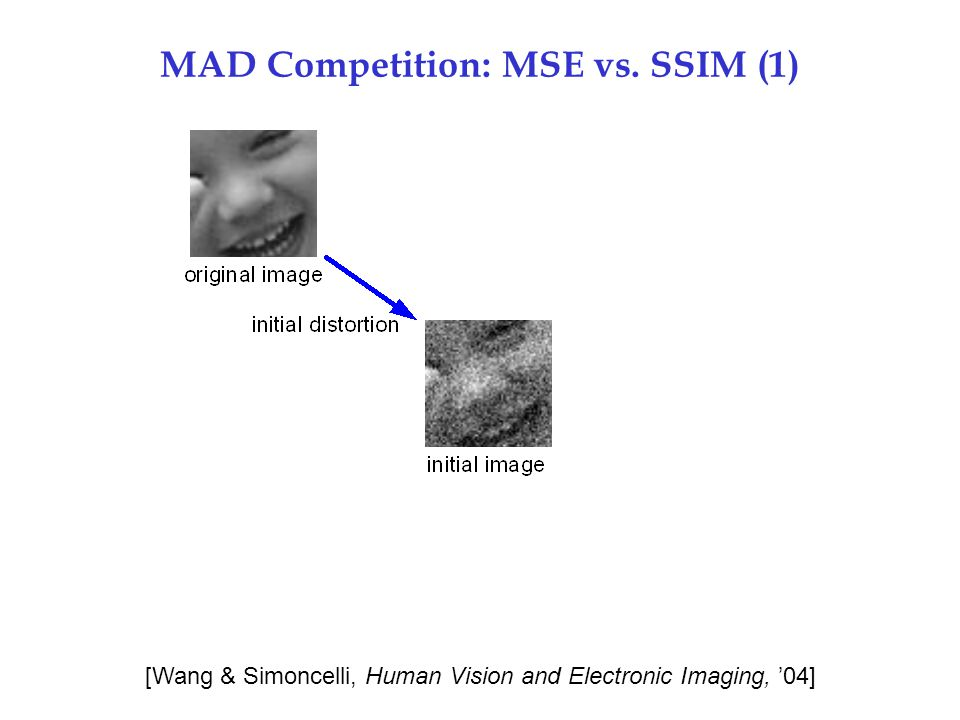 MAD Competition: MSE vs. SSIM (1)