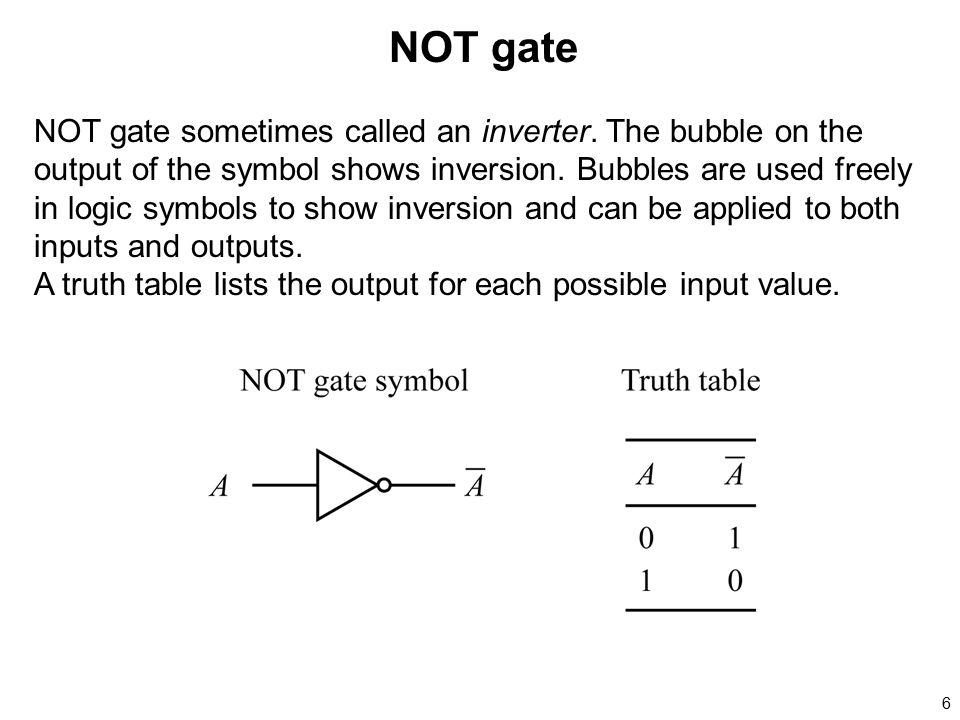 NOT gate