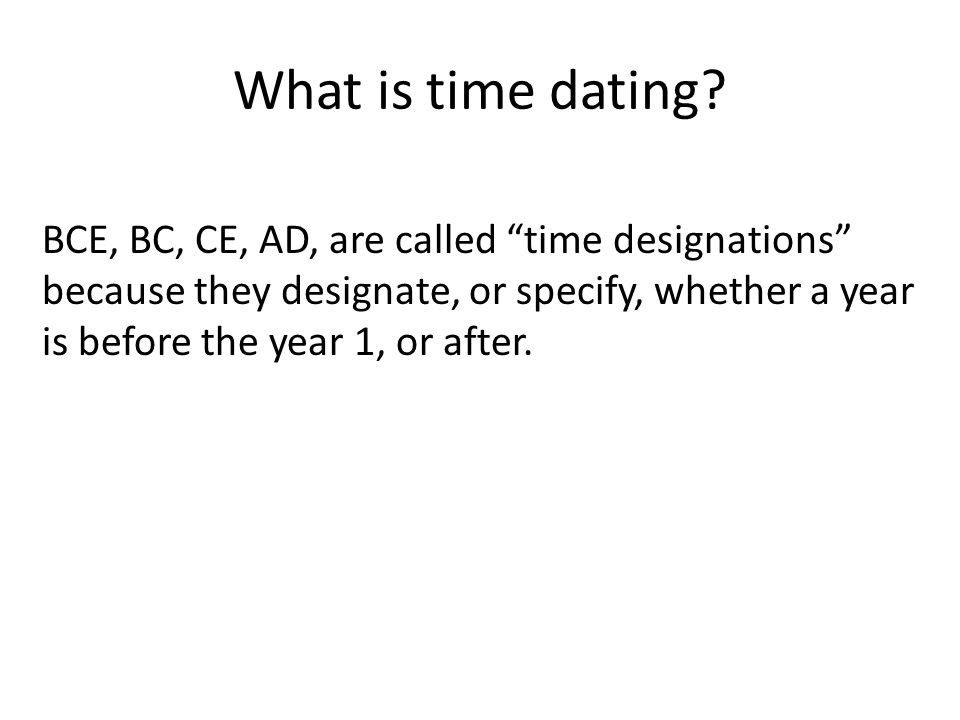 understanding bce and ce dating