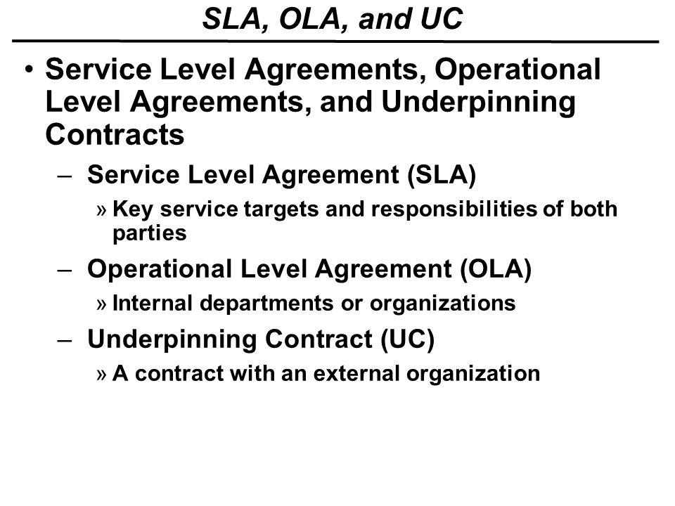 28 [ Ola Operational Level Agreement Template