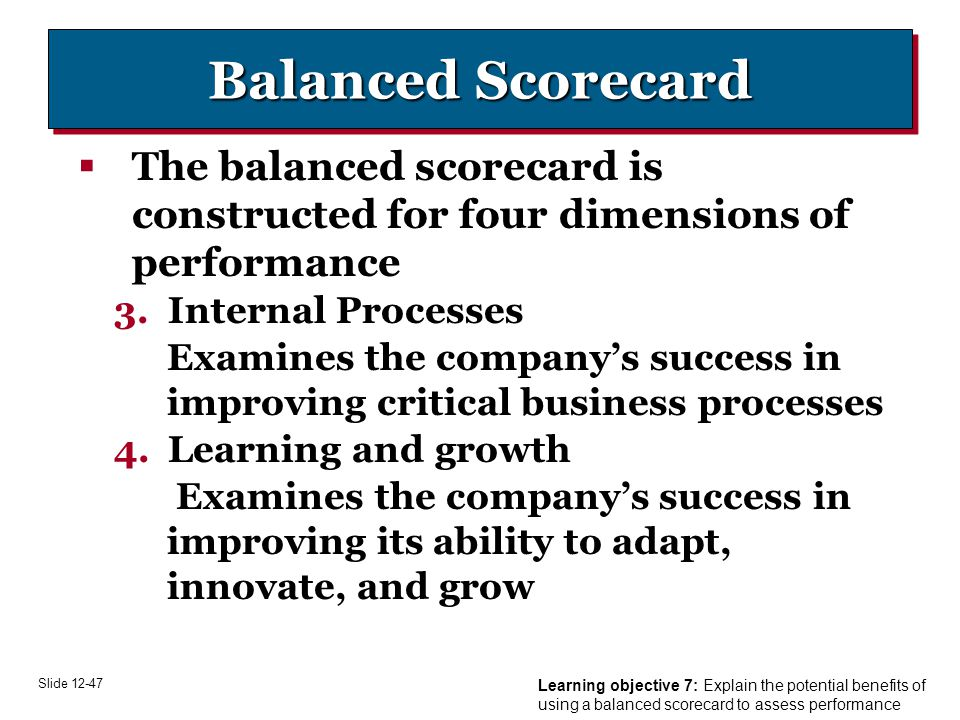 putting balance scorecard to work critical The balanced scorecard—measures that drive the behavior of the critical areas of is a typical mission to put the balanced scorecard to work.