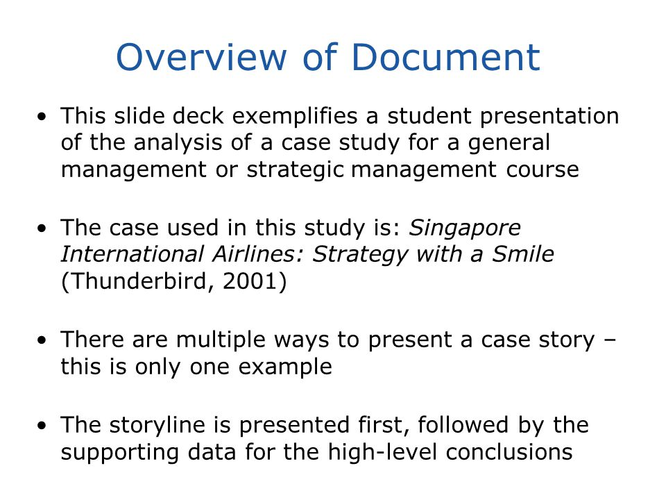 Sample Student Presentation Slides Strategic Management Case