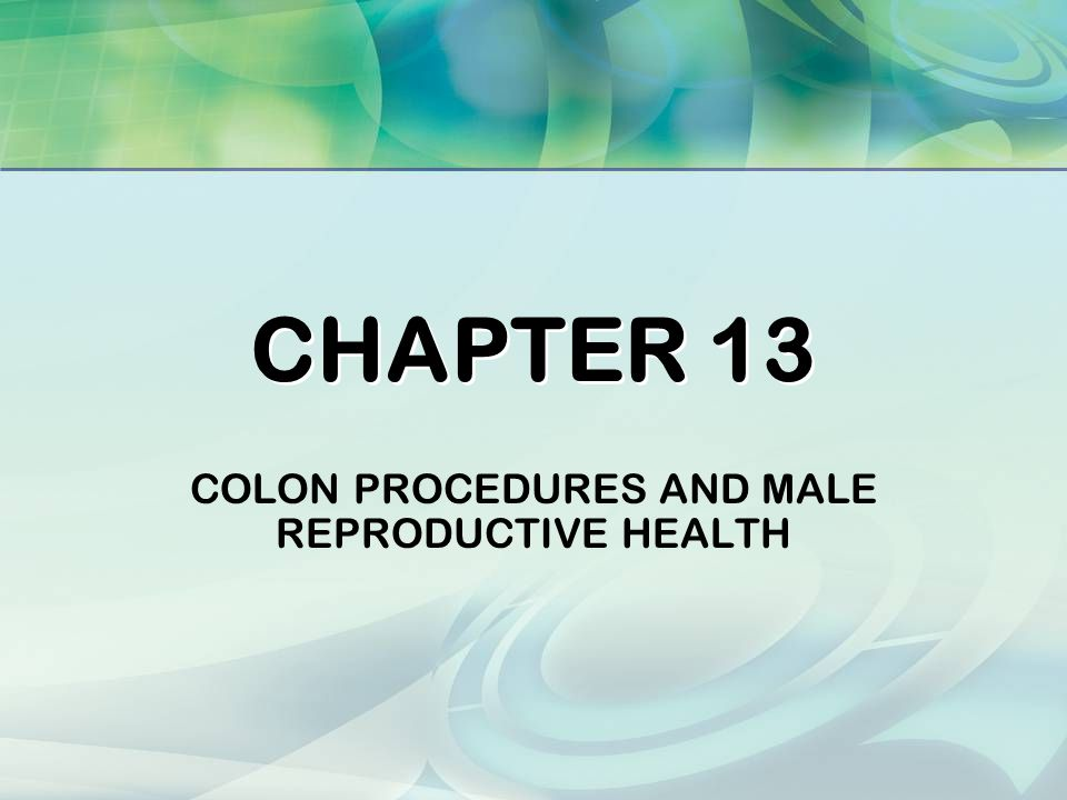 Colon Procedures And Male Reproductive Health Ppt Video