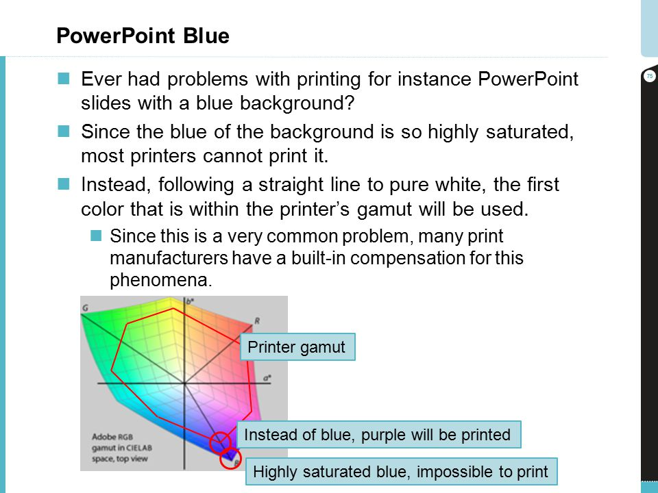 PowerPoint Blue Ever Had Problems With Printing For Instance Slides A Background