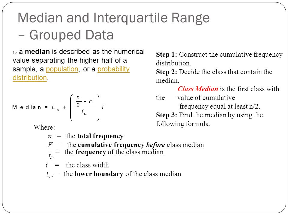 Range Of Data ~ Grouped data calculation ppt video online download