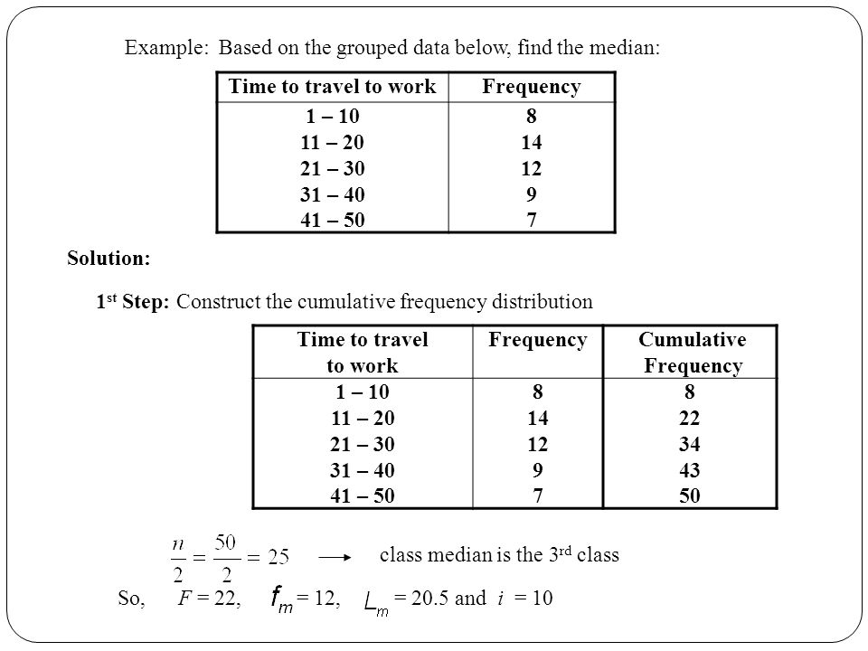 Grouped data calculation ppt video online download 5 example ccuart Images
