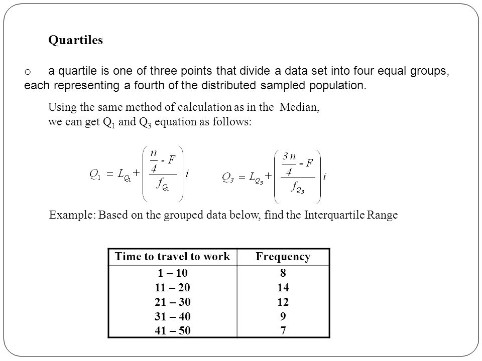 Grouped Data Calculation - ppt video online download