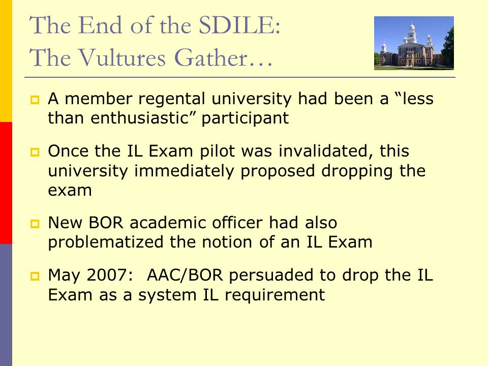 The End of the SDILE: The Vultures Gather…