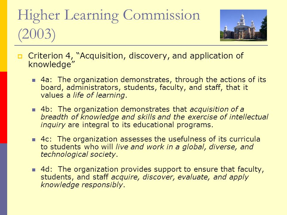 Higher Learning Commission (2003)
