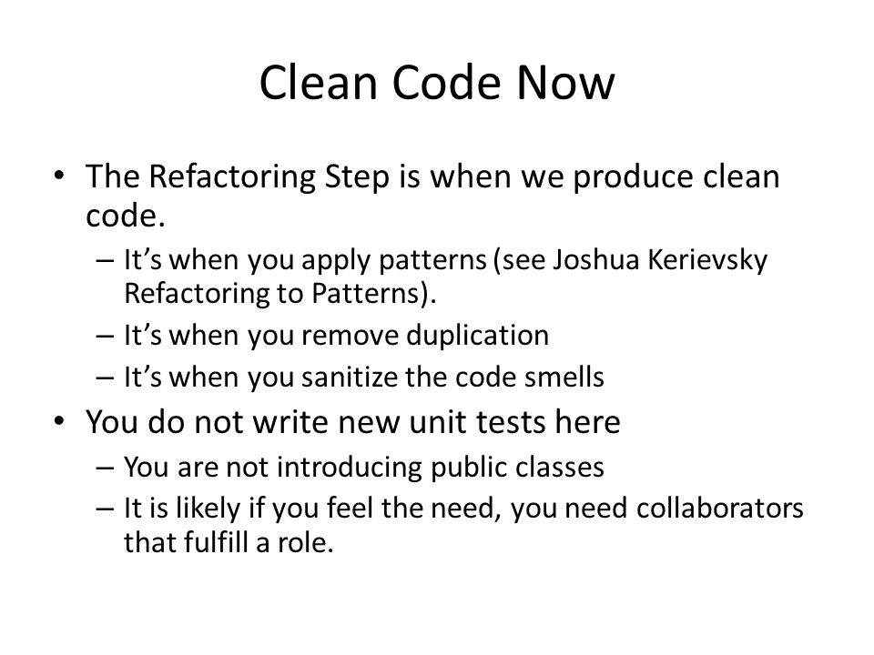 how to always write clean code