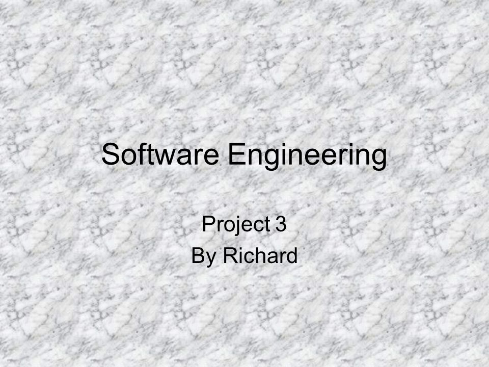 Software Engineering Project 3 By Richard