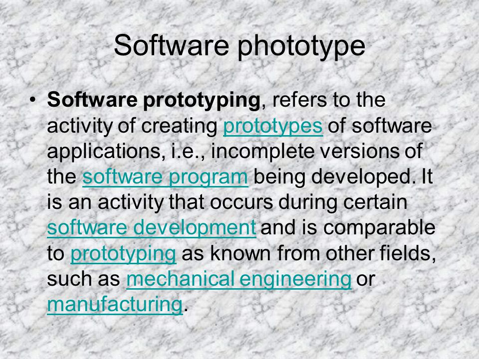Software phototype