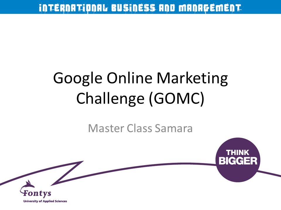 Google Online Marketing Challenge (GOMC)