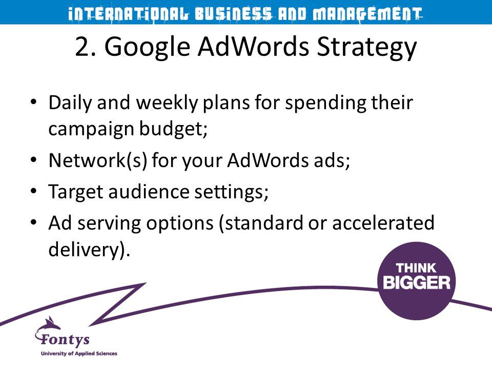 2. Google AdWords Strategy